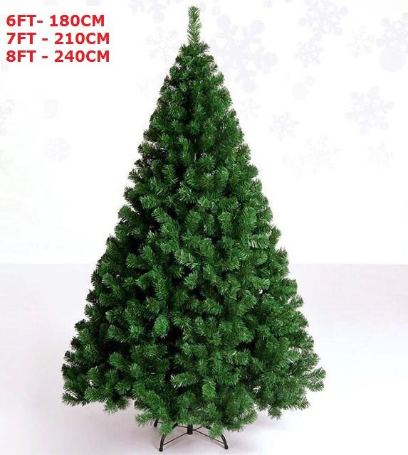 Green Artifical Xmas Tree with Metal Stand