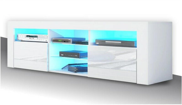 LED TV STAND 145CM - WHITE
