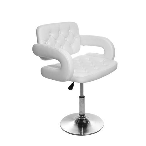 BARBER STYLE CHAIR BAR STOOL WHITE