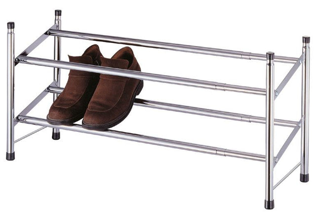 2 TIER CHROME  EXTENDING SHOE RACK