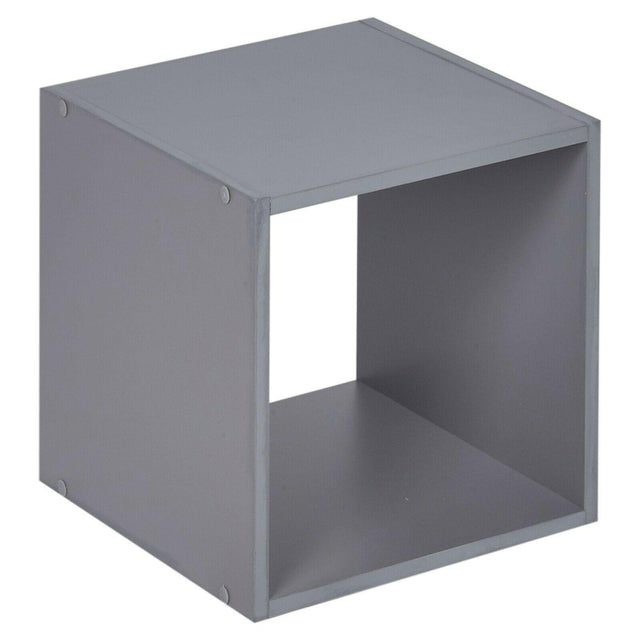 Cube Wooden Bookcase – Grey