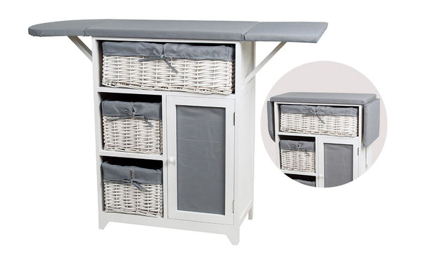 Ironing Board 3Tier Storage Unit Cabinet
