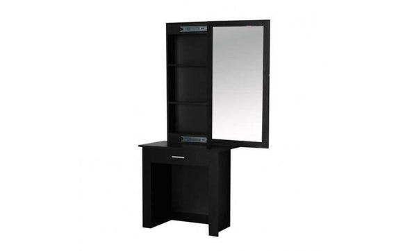 WOODEN MAKEUP JEWERLY DRESSING TABLE - BLACK