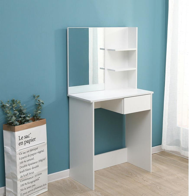 DRESSING TABLE WITH MIRROR + SHELVES