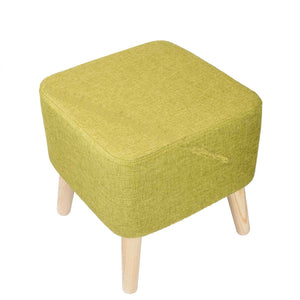 FSS-02 SQUARE GREEN FOOTSTOOL