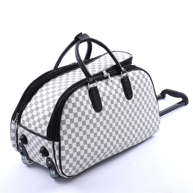 WHEELED HOLDALL BAG - WHITE