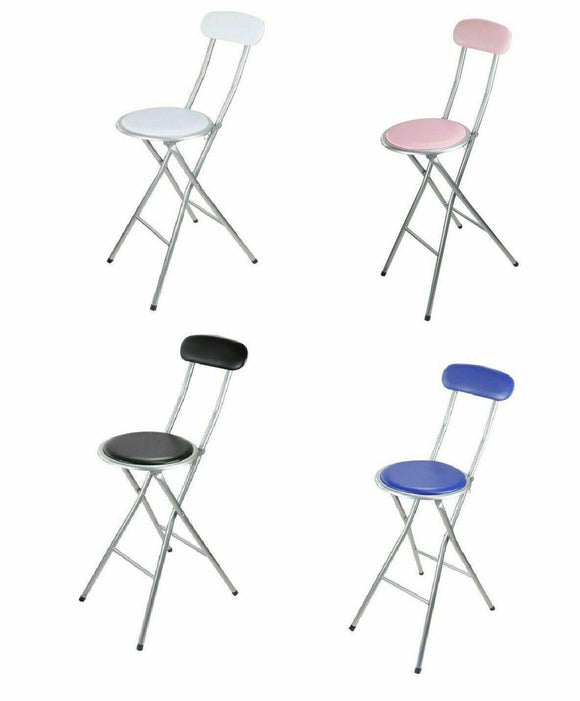 FOLDING BAR STOOL - WHITE