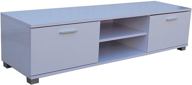 HIGH GLOSS TV CABINET UNIT WHITE