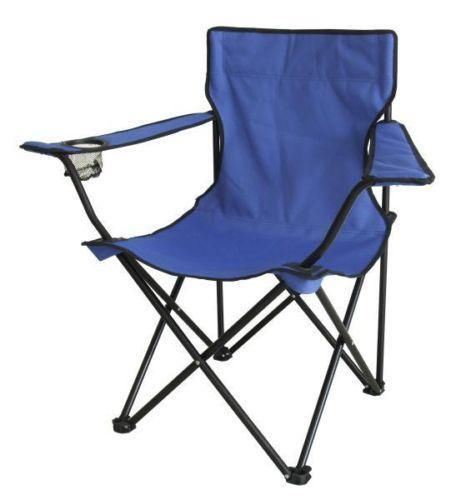 Redwood Folding Canvas Chair Blue