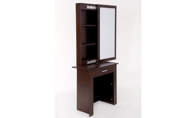 WOODEN MAKEUP JEWERLY DRESSING TABLE - WALNUT