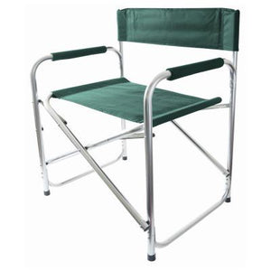 ALUMINIUM DIRECTORS CHAIR - GREEN
