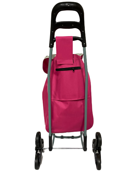 3 WHEEL SHOPPING TROLLEY - PINK