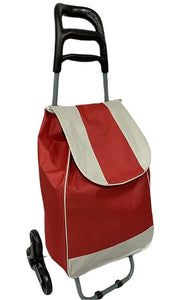 3 WHEEL SHOPPING TROLLEY - RED