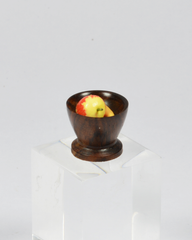 Miniature Wooden Fruit Bowl