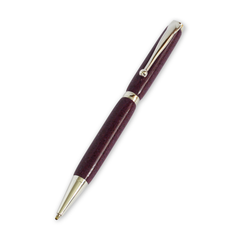 Slimline Silver Plated Pen (Corian Purple Stone)