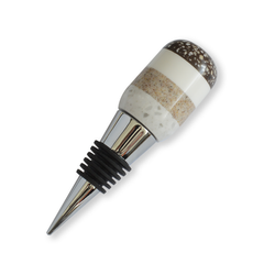 Segmented Wine Bottle Stopper- Grey Brown White & Black  | Greenleaf Crafts