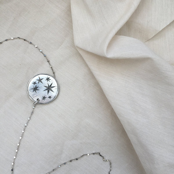 Seren Star Constellation Large Coin Necklace