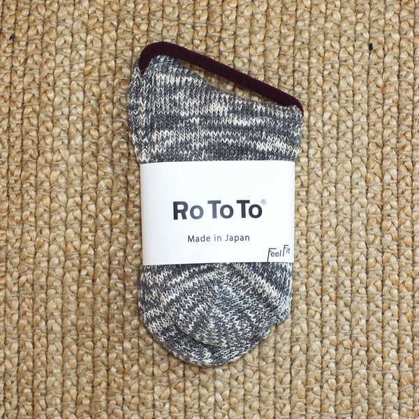 Medium Grey Low Guage Slub Socks