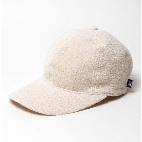 thing fabrics off white towelling cap