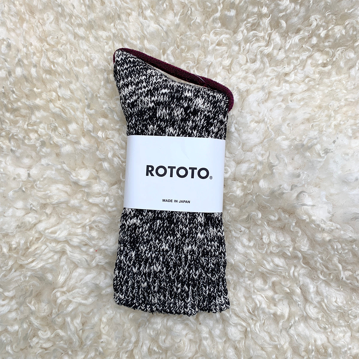 rototo black marl socks