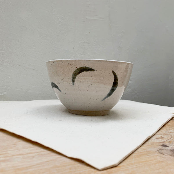 mutai ceramic handmade small bowl moon