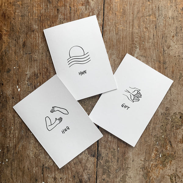 100% eco greetings cards