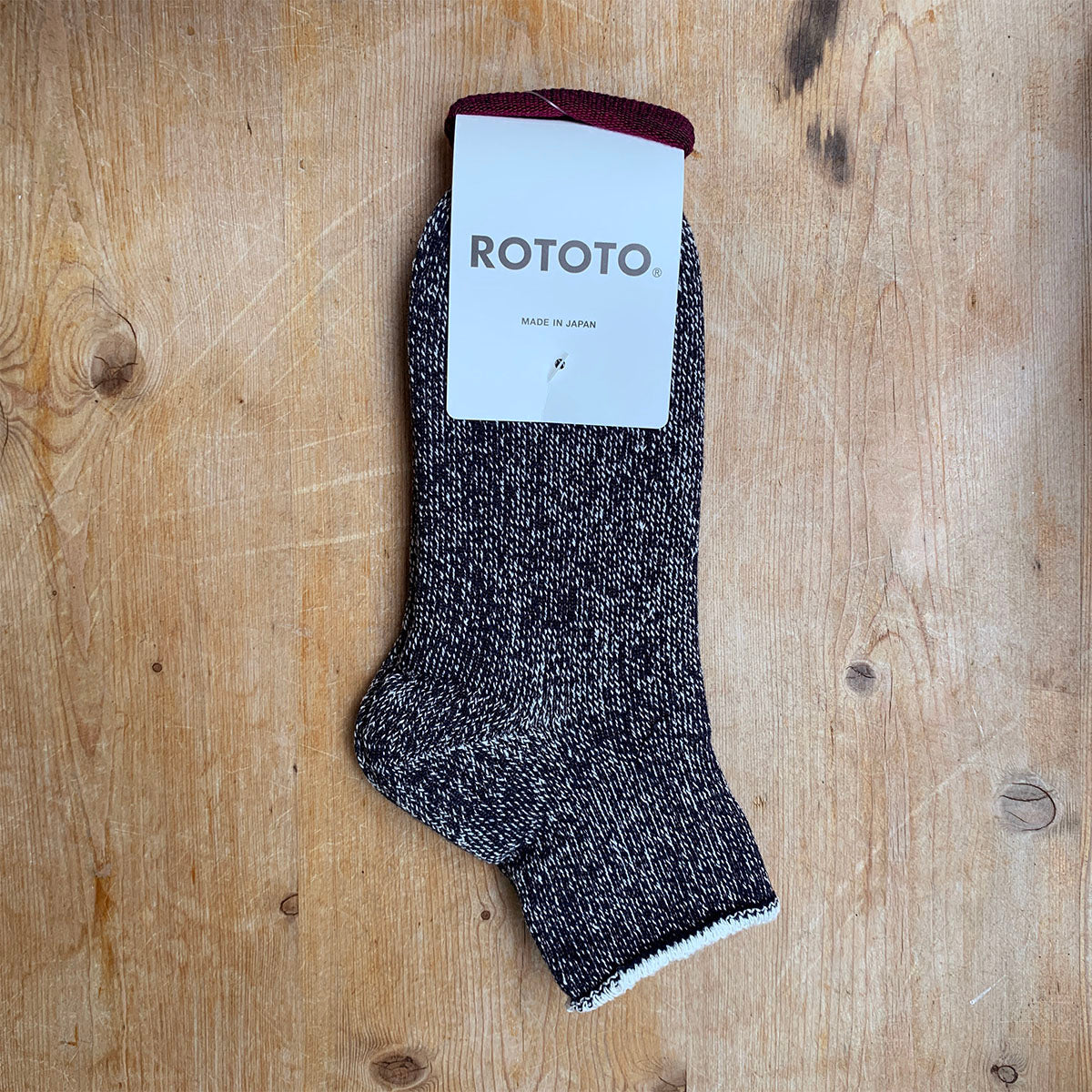 navy blue double face ankle socks rototo