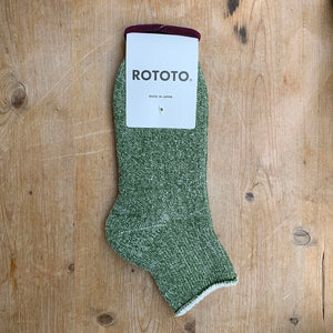green double face ankle socks rototo