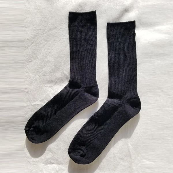 Trouser socks in black