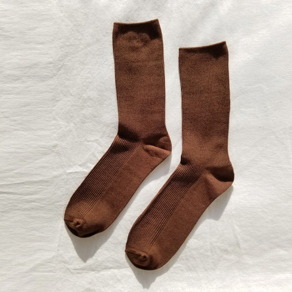 Trouser socks in dijon