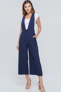 Navy Stripe Wide Leg Jumper