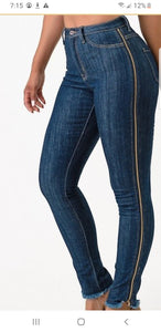 """Side Zipper"" Jeans"