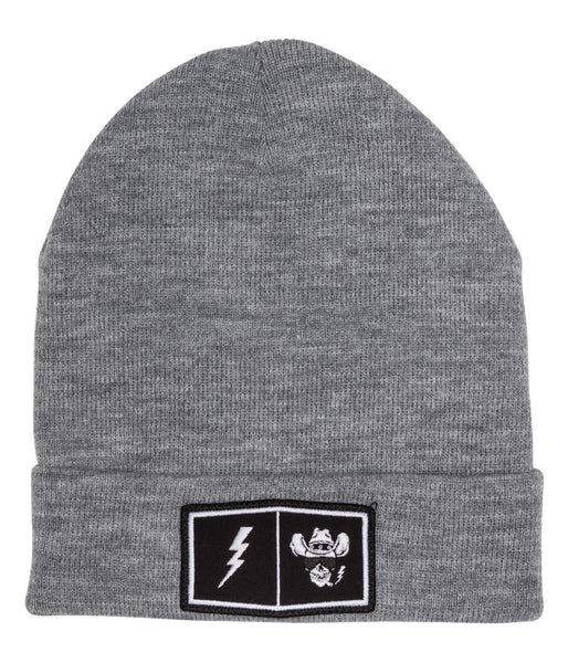 "Beanie ""Patch"" grey"