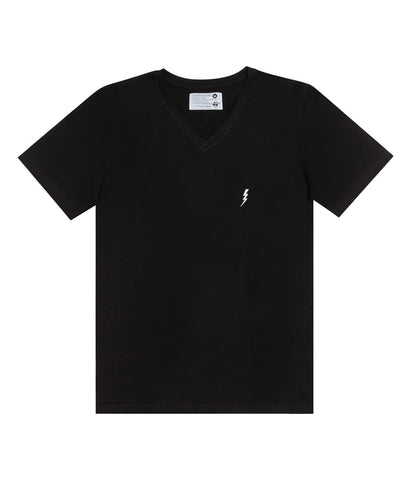 "V-Neck ""Lightning"" Black"