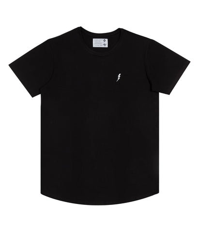 "Long T-Shirt ""Lightning"" Black"