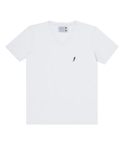 "V-Neck ""Lightning"" White"