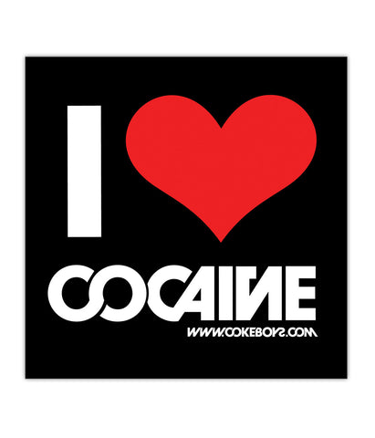 "Sticker ""I Love Cocaine"""