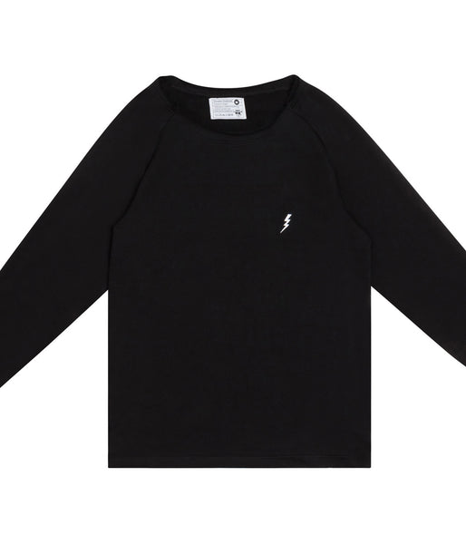 "Destroyed ""Lightning"" Sweatshirt Black"