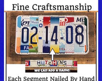 10 Year Anniversary Gift for Men, Husband, Wife, Partner Custom License Plate Sign, 10 Year Gift of Tin, Anniversary gift