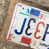 Jeep license plate sign