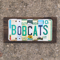 Bobcats license plate sign