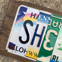 She Shed license plate sign