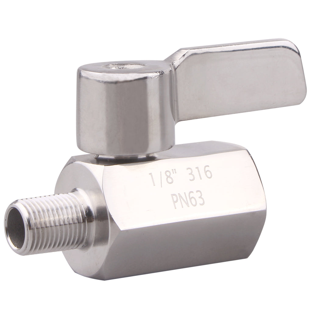 Stainless Steel Mini Ball valves | NPT thread SUS316