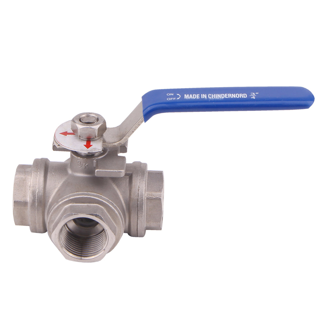 T Mounting Pad | 3-Way Ball Valve  |Stainless Steel 304 Female Type