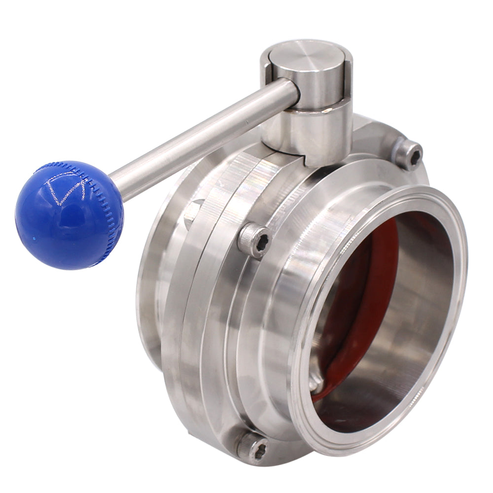 Sanitary Butterfly Valve | Tri Clamp Clover | with Pull Handle Stainless Steel 304