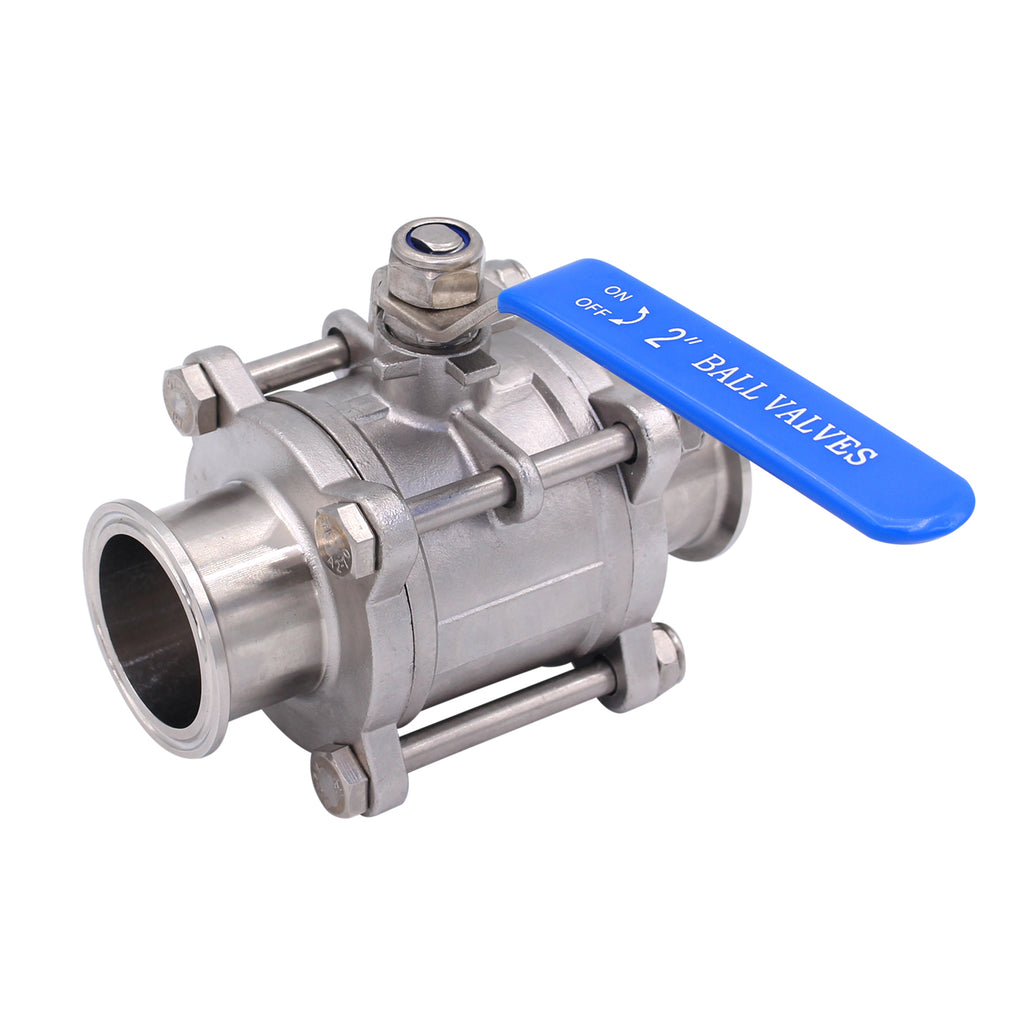 "Sanitary Ball Valve | Fits 2"" Tri-Clamp Clover 
