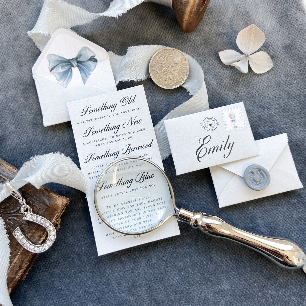 Gift for Bride - Something Old, New, Borrowed & Blue