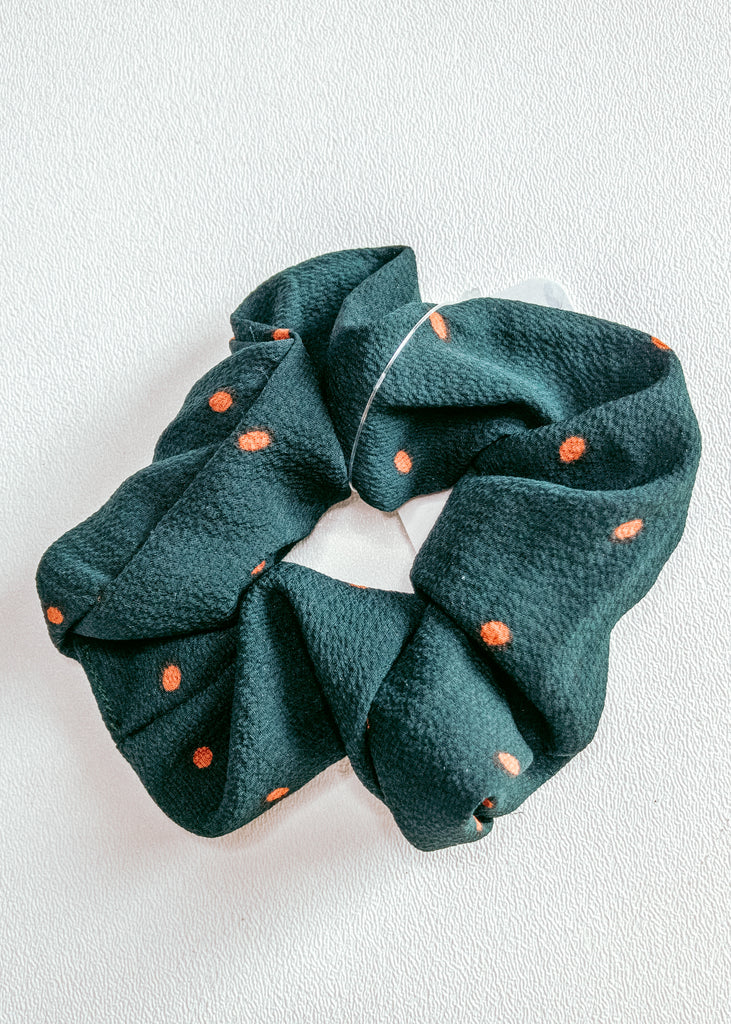 orange/green spring scrunchie - Mint