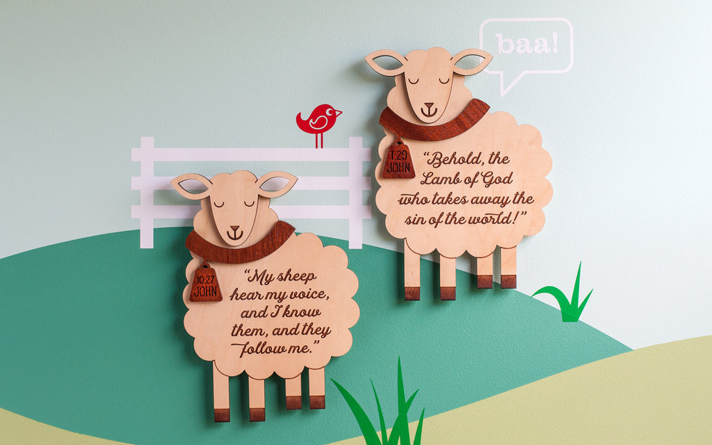 Sheep Scripture Christian Wall Hanging