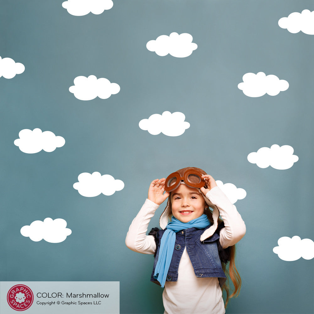 ... Cloud Wall Decals: Pack Of 3 ...
